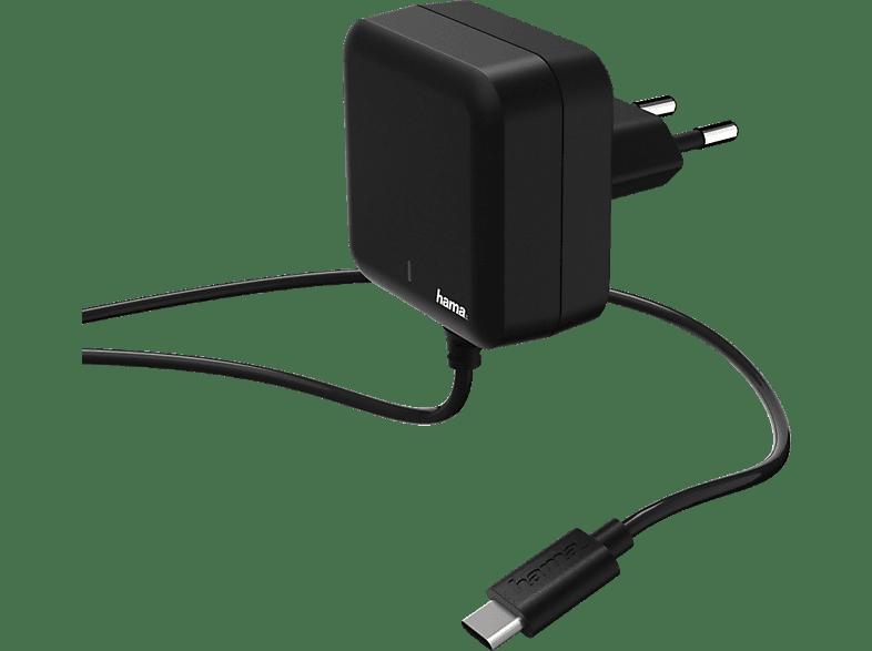 HAMA USB Typ-C Power Delivery (PD) Ladegerät, Schwarz
