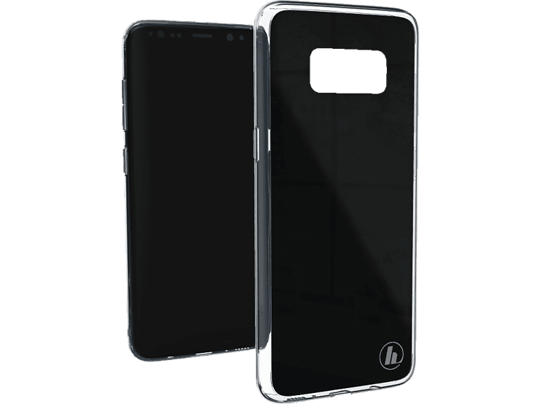 HAMA Glass , Backcover, Samsung, Galaxy S8, Glas/Thermoplastisches Polyurethan, Schwarz