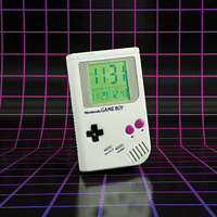 PALADONE PRODUCTS Game Boy mit LED Anzeige Wecker, Grau