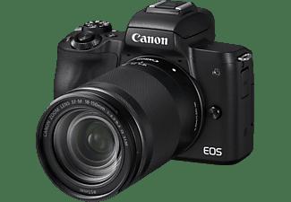CANON EOS M50 Kit Systemkamera mit Objektiv 18-150 mm f/6.3, 7,5 cm Display Touchscreen, WLAN