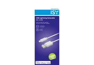 ISY Lightning , Ladekabel, 2 m, Weiß