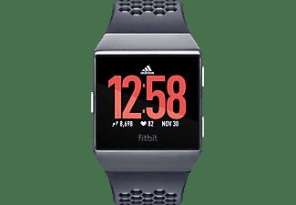 FITBIT Ionic Adidas Edition Smartwatch Aluminium  Elastomer, S/L, Dunkelblau/Grau