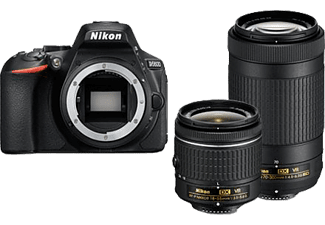 NIKON D5600 + 18–55 MM + 70-300 MM - Appareil photo reflex (Résolution photo effective: 24.2 MP) Noir