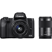 CANON EOS M50 Kit Systemkamera 24.1 Megapixel mit Objektiv 15-45 mm, 55-200 mm , 7.5 cm Display   Touchscreen, WLAN