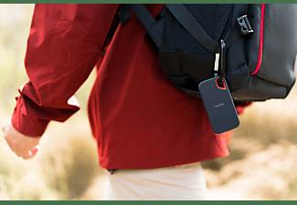 SANDISK Extreme® Portable SSD, 250 GB SSD, 2,5 Zoll, extern, Grau