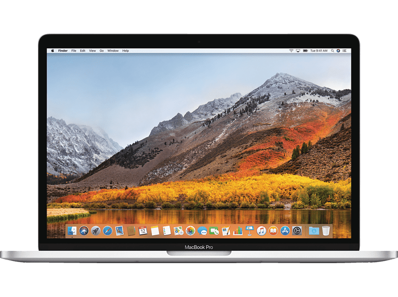 APPLE MacBook Pro mit internationaler englischer Tastatur, Notebook mit 13.3 Zoll Display, Core i7 Prozessor, 16 GB RAM, 128 GB SSD, Intel® Iris™ Plus-Grafik 640, Silber