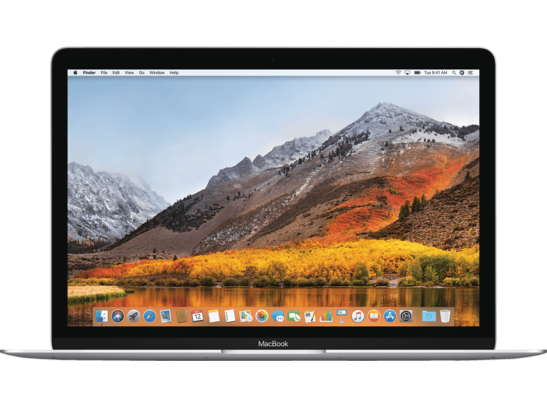APPLE MacBook mit internationaler englischer Tastatur, Notebook mit 12 Zoll Display, Core i5 Prozessor, 8 GB RAM, 256 GB Flash, Intel® HD-Grafik 615, Silber