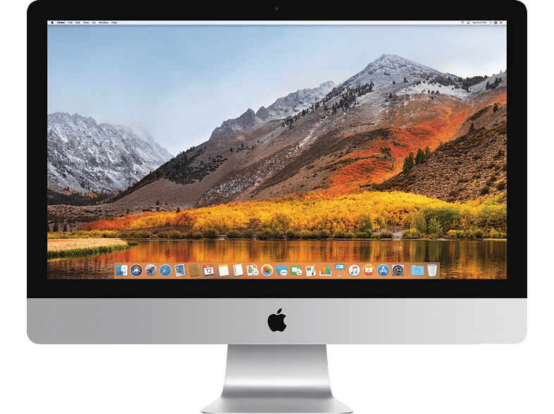 APPLE iMac mit internationaler englischer Tastatur, All-In-One-PC mit 27 Zoll Display, Core i5 Prozessor, 64 GB RAM, 1 TB Flash, Radeon™ Pro 575, Silber