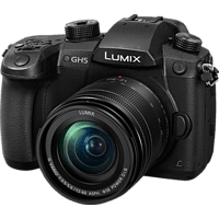PANASONIC Lumix DC-GH5 Systemkamera 20.3 Megapixel mit Objektiv 12-60 mm , 8 cm Display   Touchscreen, WLAN