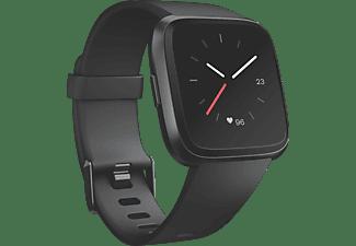 FITBIT Versa Smartwatch Aluminium Elastomer, S-L, Schwarz/Schwarz