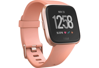 FITBIT Versa Smartwatch Aluminium Elastomer, S-L, Peach/Rose Gold