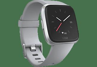 FITBIT Versa Smartwatch Aluminium  Elastomer, S-L, Grau / Aluminium-Silber