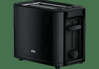 BRAUN HT 3010 BK PurEase Toaster Schwarz (1000 Watt, Schlitze: 2)