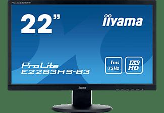 IIYAMA PROLITE E2283HS-B3 21,5 Zoll Full-HD Monitor (1 ms Reaktionszeit, 75 Hz)