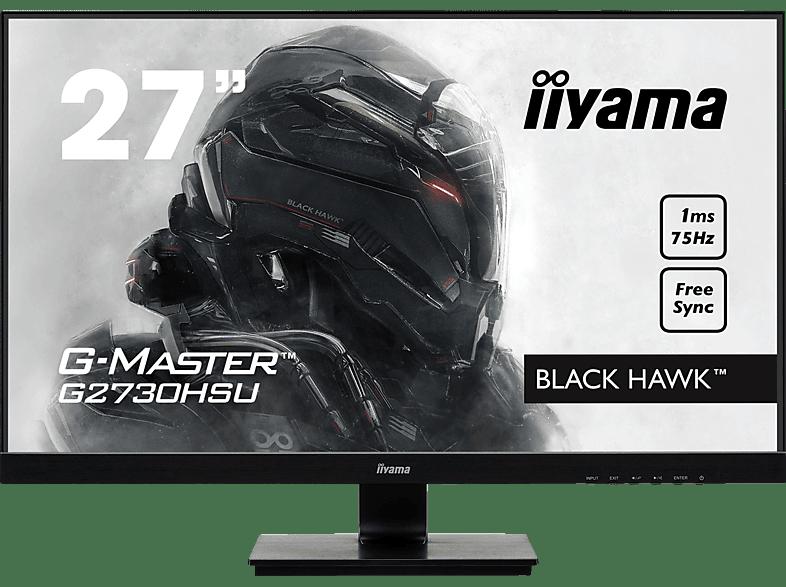 IIYAMA G-MASTER G2730HSU-B1 27 Zoll Full-HD Gaming Monitor 1 ms Reaktionszeit, 75 Hz