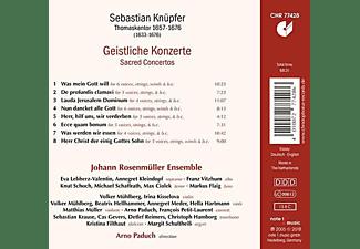 Johann Rosenmüller Ensemble - Geistliche Konzerte  - (CD)