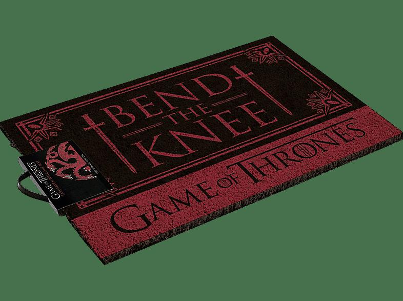 PYRAMID INTERNATIONAL Game of Thrones Fußmatte Bend the Knee Fußmatte, Schwarz/Rot