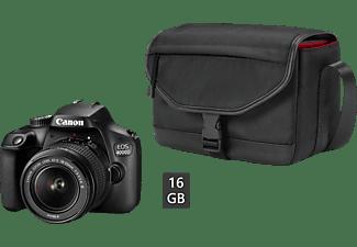 CANON EOS 4000D Kit inkl. Tasche und Speicherkarte Spiegelreflexkamera, Full HD, HD, 18-55 mm Objektiv (EF-S), WLAN, Schwarz