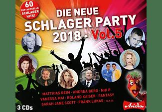 VARIOUS - Die neue Schlager Party,Vol.5 (2018)  - (CD)