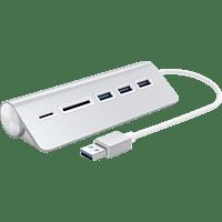 SATECHI Aluminum USB 3.0 Hub & Card Reader, USB Hub und Kartenleser