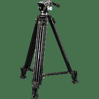 CULLMANN 55480 Terra 480 Dreibein Video Stativ, Schwarz, Höhe offen bis 1845 mm