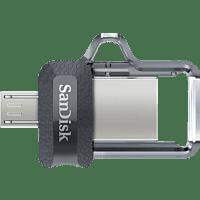 SANDISK Ultra® Dual USB-Laufwerk m3.0 USB Stick, 128 GB, 150 MB/s