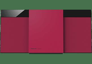 PANASONIC SC-HC304EG-R Kompaktanlage (Schwarz/Rot)