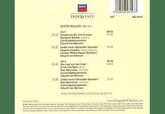 Eugenia Zareska, Ernst Haeflinger, Concertgebouw Orchestra, Margaret Ritchie, Merriman Nan, The London Philharmonic Orchestra - Van Beinum dirigiert Mahler  - (CD)