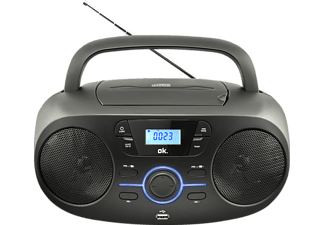 OK. ORC 330-B Tragbarer Stereo CD/MP3/USB Radiorecorder, Schwarz