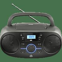 OK. ORC 330-B Tragbarer Stereo CD/MP3/USB Radiorecorder (Schwarz)