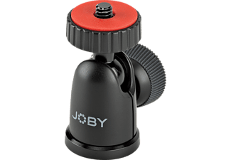 JOBY BallHead 1K Kugelkopf, Schwarz/Rot, Höhe offen bis 50 mm