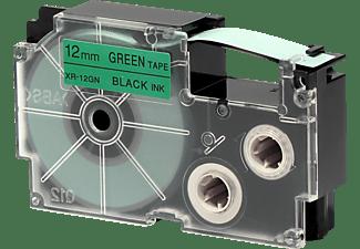 CASIO XR-12GN1 Schriftband Schwarz auf Grün