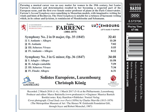 Solistes Europeens Luxembourg - Sinfonien 2+3  - (CD)