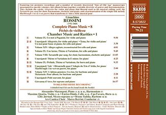 Alessandro Marangoni - Klaviermusik Vol.8/Kammermusik Vol.1  - (CD)