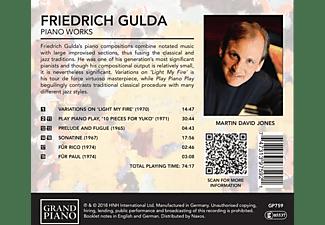 Jones Martin David - Klavierwerke  - (CD)