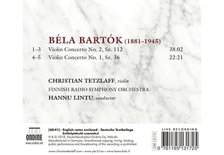 Tetzlaff/Lintu - Violinkonzerte 1+2  - (CD)