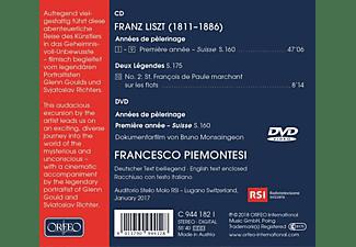 Francesco Piemontesi - Anées de pèlerinage/Deux Lègendes  - (CD + DVD Video)