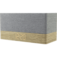 SOUNDMASTER UR620 Radio-Uhr (Digital PLL, UKW, Holz/Grau/Weiß)