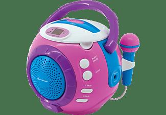 SOUNDMASTER Kinder-CD-Spieler KCD1600PI, Sing-a-long Funktion, 2 Mikrofone