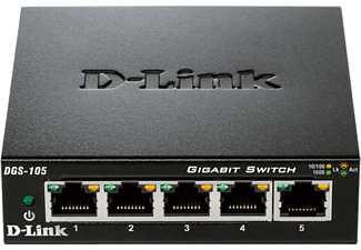 D-LINK DGS-105 5-Port Gigabit Unmanaged Desktop Switch