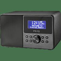PEAQ PDR160BT-B Radio DAB+, FM, Schwarz/Grau