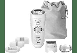 Depiladora - Braun, Silk-épil 7 7/880, con cabezal afeitadora, 7 accesorios, tecnología SensoSmart