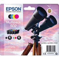 EPSON Multipack 502 Schwarz, Blau, Gelb, Magenta (C13T02V64010)