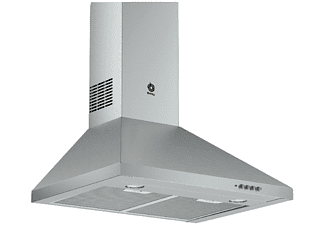Campana - Balay 3BC663MX, Decorativa, inox, iluminación LED, 380 m³/h, filtro aluminio lavable