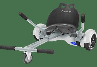 Estructura Kart - SMARTGYRO GO-KART Blanco, De acero regulable, Compatible con hoverboard de rueda