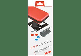 Funda - Red Level Pack Imprescindibles, Para Nintendo Switch, 9 accesorios, Rojo