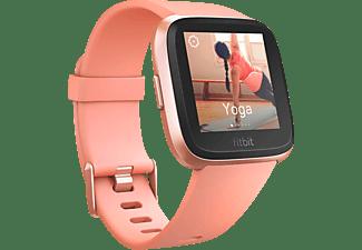Reloj deportivo - Fitbit Versa, Oro rosa, GPS, Sumergible, Ritmo cardíaco