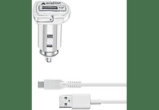 Cargador universal para móvil - Cellularline CBRSMKIT15WTYCW, Blanco