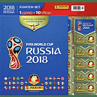 PANINI FIFA WM 2018 Starter Album + 10 Stickertüten , Mehrfarbig