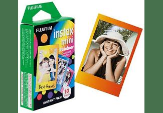 Película fotográfica - Fujifilm ColorFilm Instax Mini Rainbow, 10 hojas
